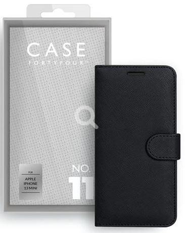 Apple iPhone 13mini Book-Cover Case44 No.11 Cross Grain black