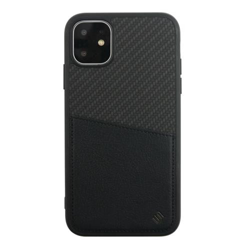 Apple iPhone 11/XR Hard-Cover CARBON BACK SHELL black