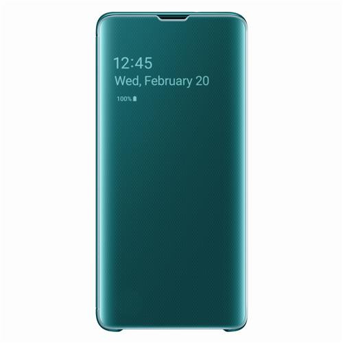 "Samsung Galaxy S10 Book-Cover ""Clear-View green"""