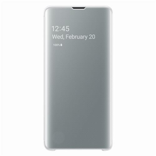 """Samsung Galaxy S10 Book-Cover """"Clear-View white"""""""