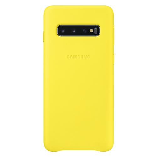 "Samsung Galaxy S10 Hard-Cover ""Leather yellow"""